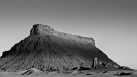 Factory Butte in Black and White